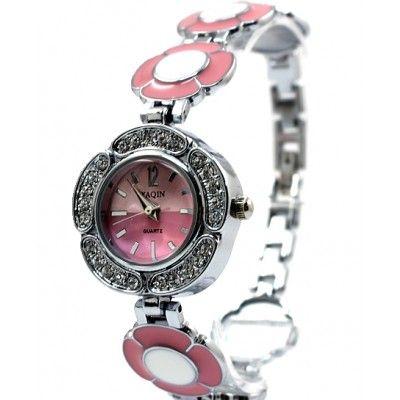 FW754C PNP Shiny Silver Watchcase Pink Dial Ladies Women Fashion Bracelet Watch