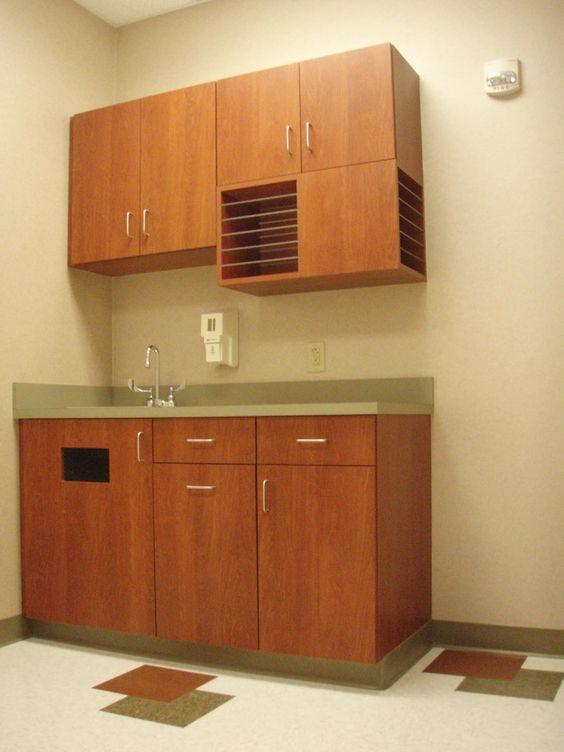 CMC Exam Room Cabinets LBC Design Cabinetry Cornelius NC Commercial Pro