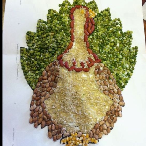 Family turkey project it was a school project to decorate Cooking turkey split in half