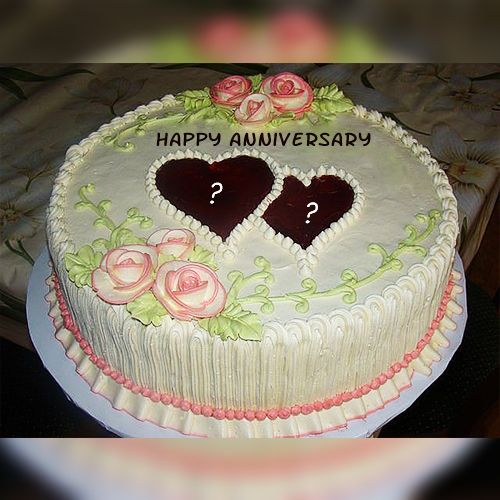 7th Anniversary Cake With Name Happy Anniversary Cakes Happy Marriage Anniversary Cake Anniversary Cake With Photo