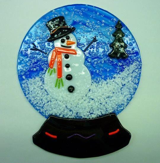 Fused Snow Globe, December 7 12-2:30pm