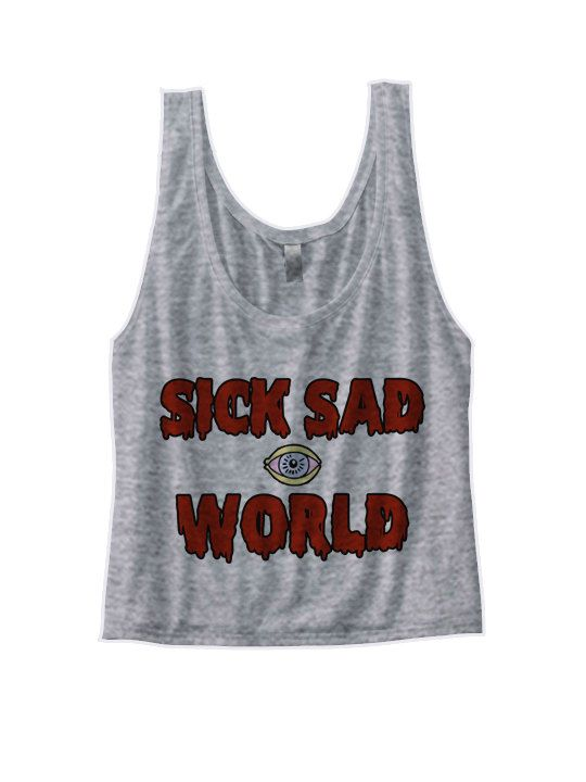 Daria Shirt - Sick Sad World Crop Top  - 90s crop top shirt - nineties soft grunge punk mtv Ladies Women