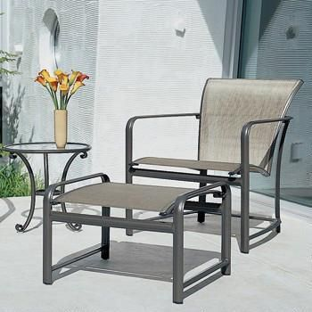 Brown Jordan Chaise Lounge Slings Replaced With Phifertex Outdoor Fab Brown Jordan Patio Furniture Patio Furniture Replacement Cushions Vintage Patio Furniture