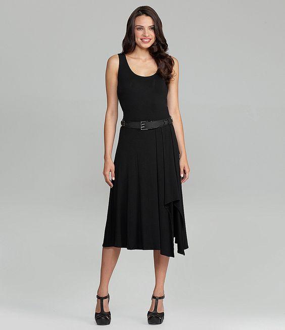 Calvin Klein Asymmetric-Hem Dress | Dillards.com