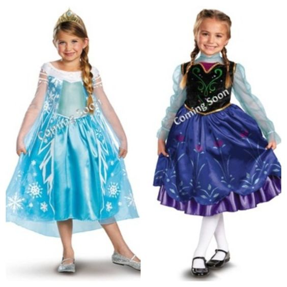 Frozen anna and elsa costumes