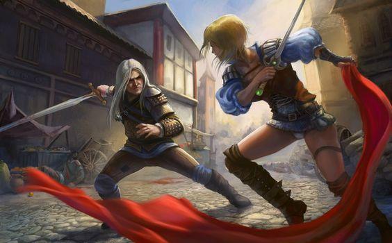 Blaviken. Geralt vs Renfri