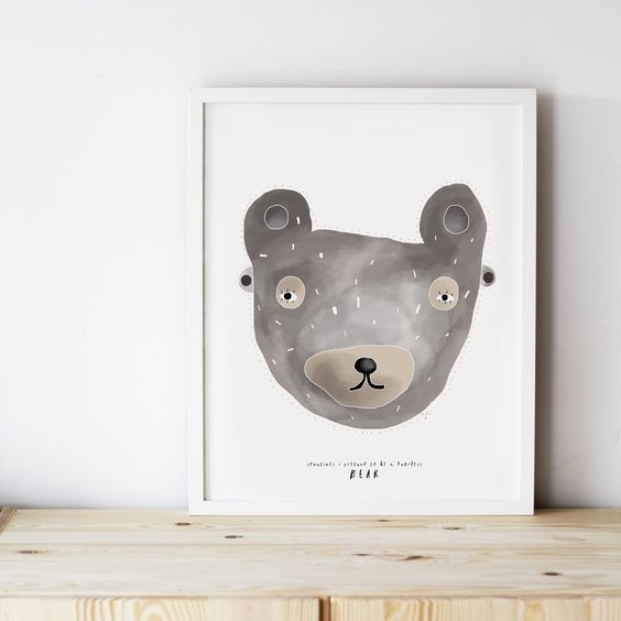 Image of ART PRINT | FEARLESS BEAR MASK