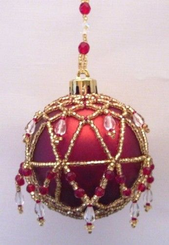 Beaded Regal Christmas Ornament Cover Pattern | BeadedBundles ...