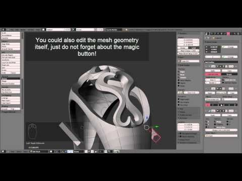 Jewelry Design Tutorial: Creating a model for a 3D printer with Blender and netfabb - YouTube