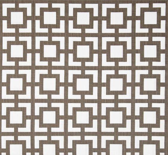 Fabric Shower Curtain Custom Gigi Drew Slub Italian Brown White ...