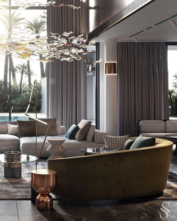 Modern living room with sofa ideas