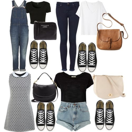 Requested outfits with black Converse. Untitled #76 by victoire96 ...