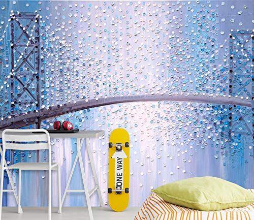 3d Raindrop Bridge 114 Wall Paper Print Decal Deco Wall Mural Self Adhesive Wallpaper Aj Us Ekaterina Ermil In 2020 Adhesive Wall Art Wall Deco Self Adhesive Wallpaper