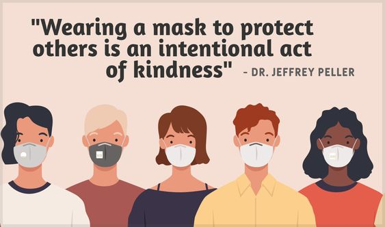 """""""Wearing a mask to protect others is an intentional act of kindness"""" - Dr. Jeffrey Peller [1830 x 1080]"""