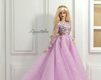 Lilac Floating Dream - Gown for Fashion Royal FR2 & same size 12'' Fashion Doll