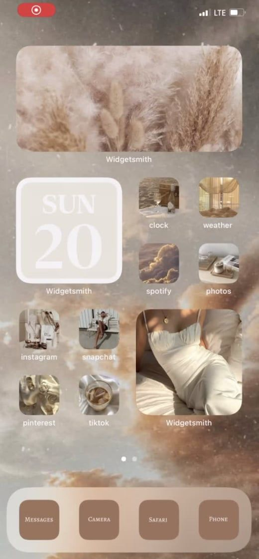 20 Neutral Ios 14 Home Screen Aesthetic Ideas That Are Calming And Gorgeous Ios App Iphone Homescreen Iphone Wallpaper Ios