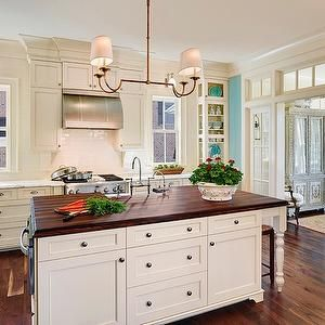 Best Cream Cabinets With Wood Countertop Kitchen Ideas 400 x 300