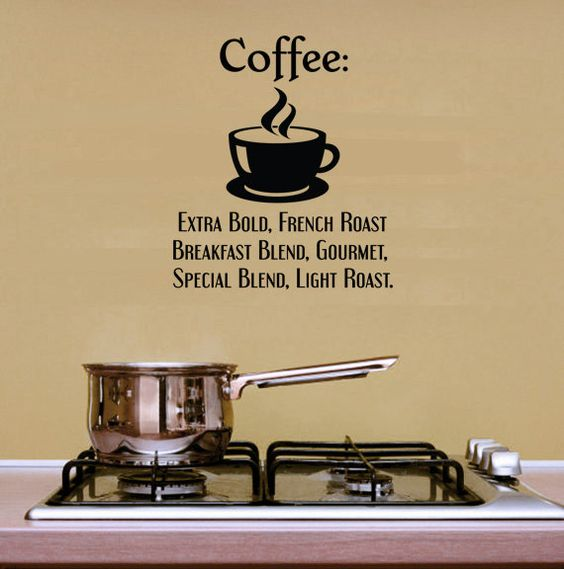 Coffee Wall Quotes. Coffee Extra Bold CODE kitchen wall decals - kitchen vinyl – Kitchen Decals – Kitchen Wall Vinyl – Kitchen Ideas – Kitchen Wall Ideas ...
