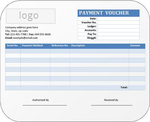 Payment Voucher Template Word Template Voucher Template Free