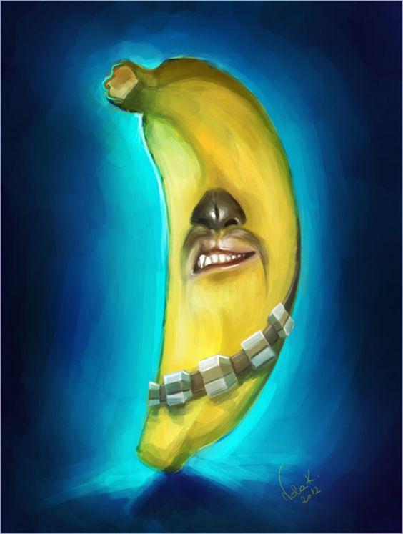 Artista cria ilustrações de personagens do Star Wars como se fossem frutas e legumes