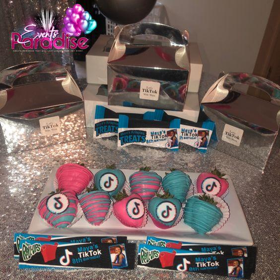 Tik Tok Birthday Party Birthday Party Treats Girls Birthday Party Games 12th Birthday Party Ideas