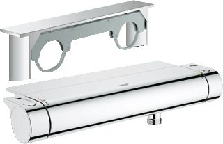 Grohe Grohtherm-2000 douchethermostaat m. koppelingen m. tray HOH=15cm chroom…