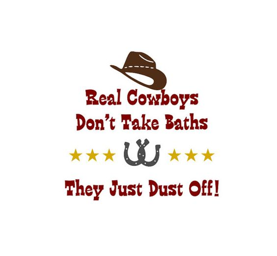 Childrens Vinyl Wall Decal Real Cowboys Dust Off  by KidsCorner, $13.50