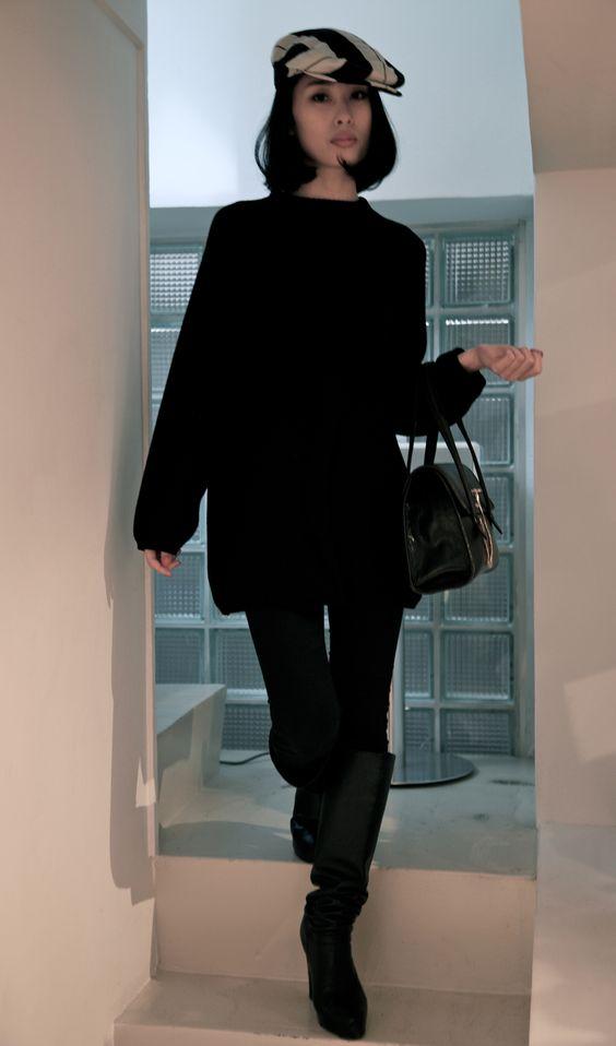 Hermes hat, Ferragamo sweater, Celine handbag, today's outfit