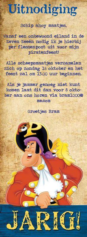 uitnodiging piratenfeestje