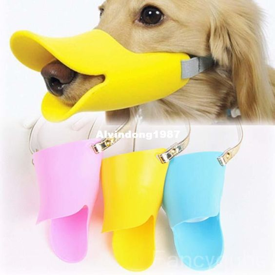 Novelty Cute Duckbilled Dog Muzzle Bark Bite Stop For