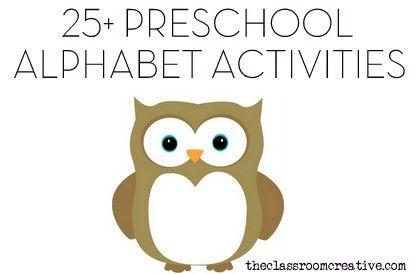Preschool alphabet activities, centers ideas, & games.