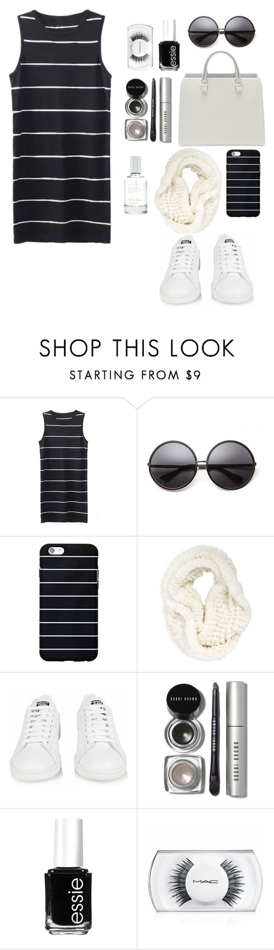 """Untitled #625"" by soosoali ❤ liked on Polyvore featuring House of Harlow 1960, La Fiorentina, adidas, Bobbi Brown Cosmetics, Essie, MAC Cosmetics and Splendid"
