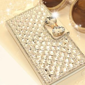 Rhinestone Synthetic Leather Case. *For iPhone 4S & 6Plus *For Samsung Note3, S3 S4, S5