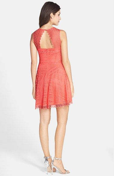 BB Dakota Zigzag Lace Fit & Flare Dress available at #Nordstrom