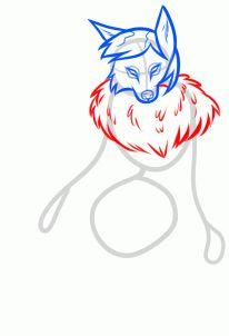 how to draw a female werewolf step 4