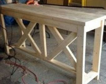 Natural Unfinished Sofa Table Etsy In 2020 Sofa Table Rustic Console Tables Rustic Sofa Tables