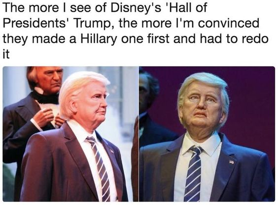Trump Hall of Presidents Robot