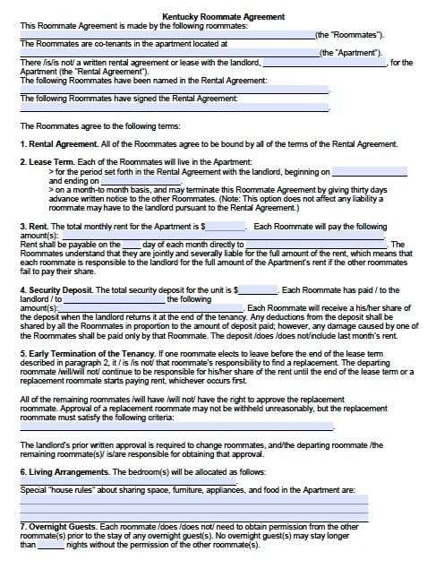 5 Room Lease Agreement Templates Word Excel Templates Rental Agreement Templates Room Rental Agreement Roommate Agreement Template
