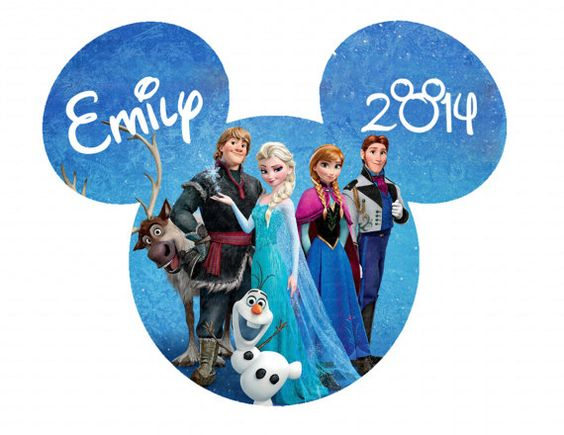 Personalized Frozen Anna Elsa Olaf Mickey Head By