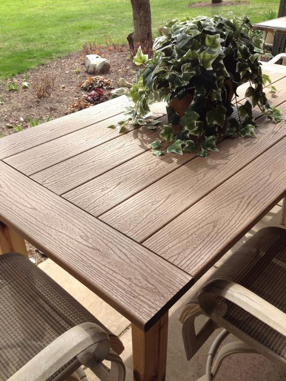 Kregjig project outdoor table by patrick flynn top made for Best composite decking material