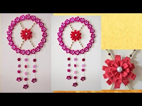 Easy Diy Home Decor Ideas Make Easy Diy Wall Hanging From Foam Sheets At Home Diy Home Decor Youtube Easy Diy Wall Hanging Foam Sheet Crafts Diy Wall