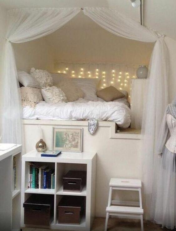 jugendzimmer einrichten einbaubett zurückgezogenheit offener