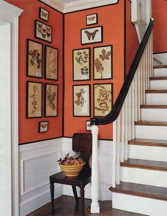Orange Interior | Design Ideas | Orange Hallway | Burnt Orange