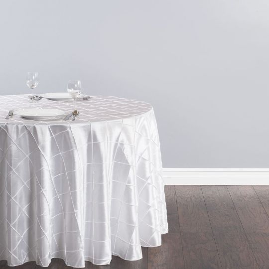 108 In Round Pintuck Tablecloth Round Tablecloth Table Linens Elegant Table
