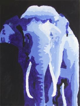 These Sweeping Monochromatic Animals Paintings Will Leave You ...