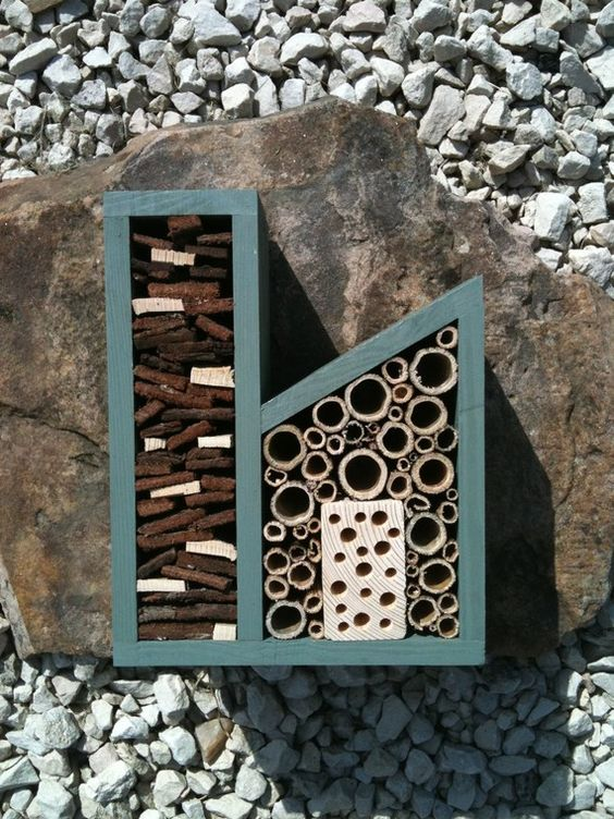 The Insect Factory. Designed to encourage pollinating bees & other good-for-your-garden insects.
