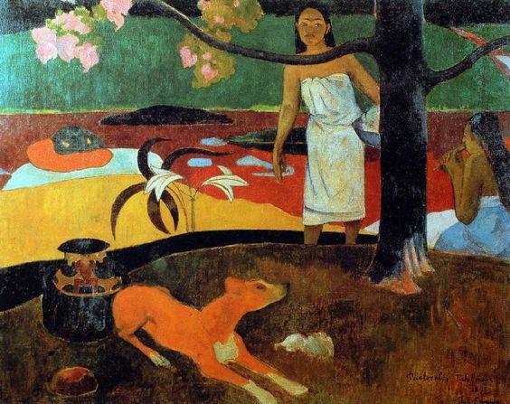 Paul Gauguin - Post Impressionism - Tahiti - Pastorales tahitiennes - 1892