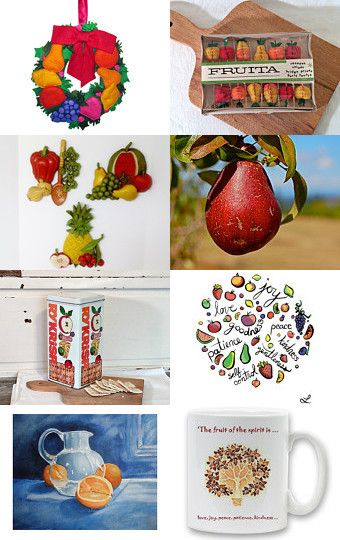 Fruits Of The Spirit by Nancy and Tania on Etsy--Pinned with TreasuryPin.com