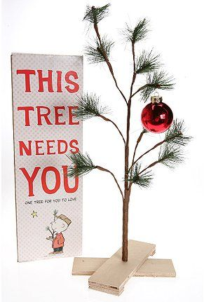 Charlie Brown Christmas Tree @ Urban Outfitters :)