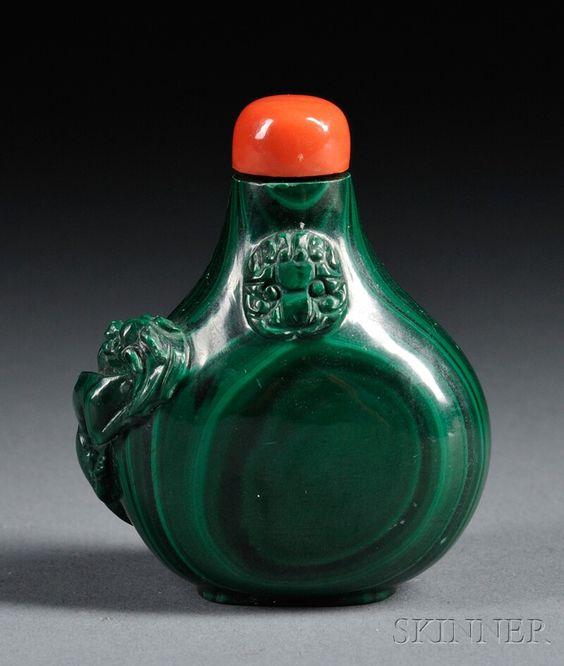 Malachite Snuff Bottle - 20th Century